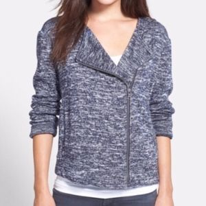 Two by Vince Camuto Marled Asymmetrical Cardigan M